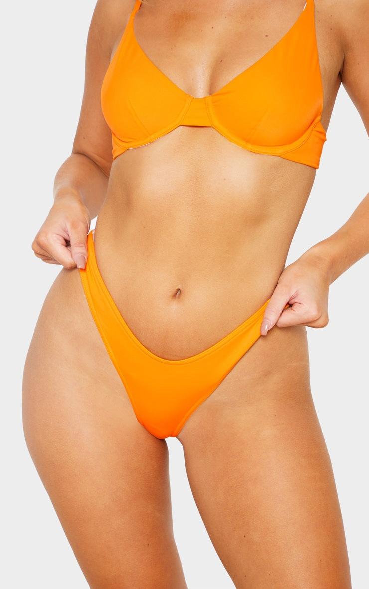 Orange Mix & Match Thong Bikini Bottom 6
