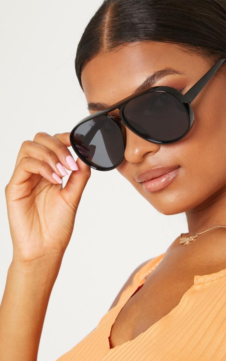 Black Acrylic Aviator Sunglasses 2