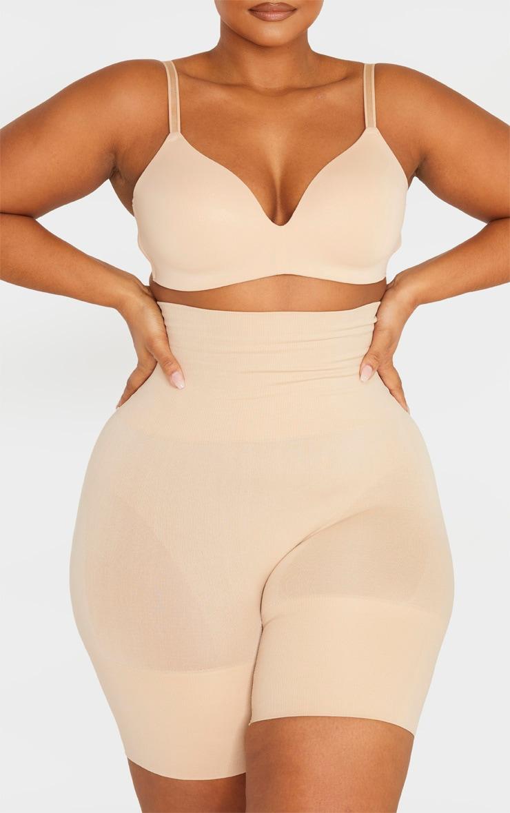 Plus Nude Seamless High Waist Control Shapewear Shorts 4