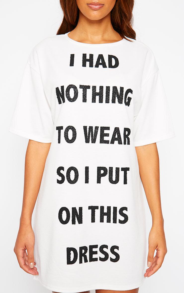 Lilo Beaded Nothing to Wear Slogan Dress 3