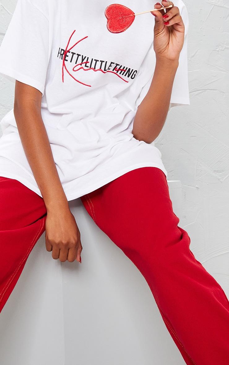 KARL KANI White Embroidered T Shirt  8