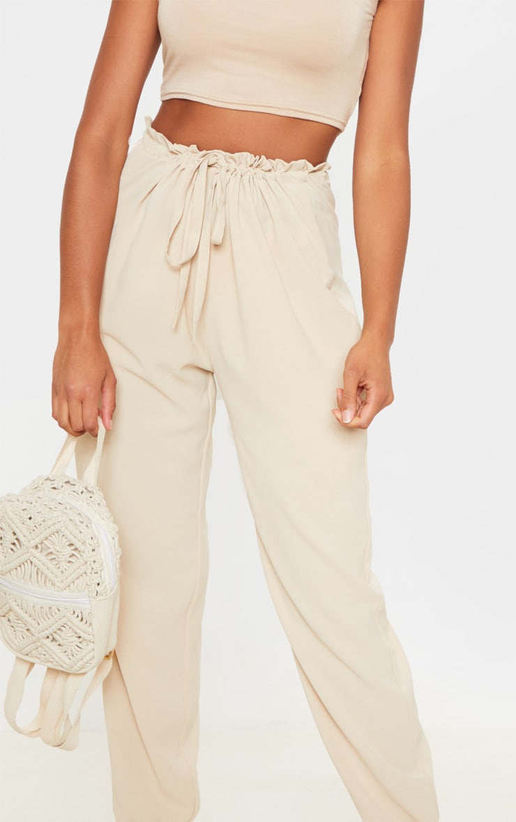 Cream Drawstring Waist Cuffed Trouser 5