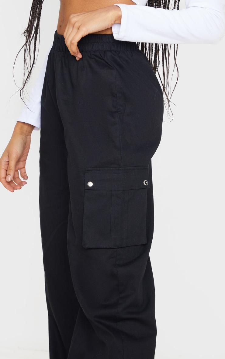 Pantalon large noir style cargo 5