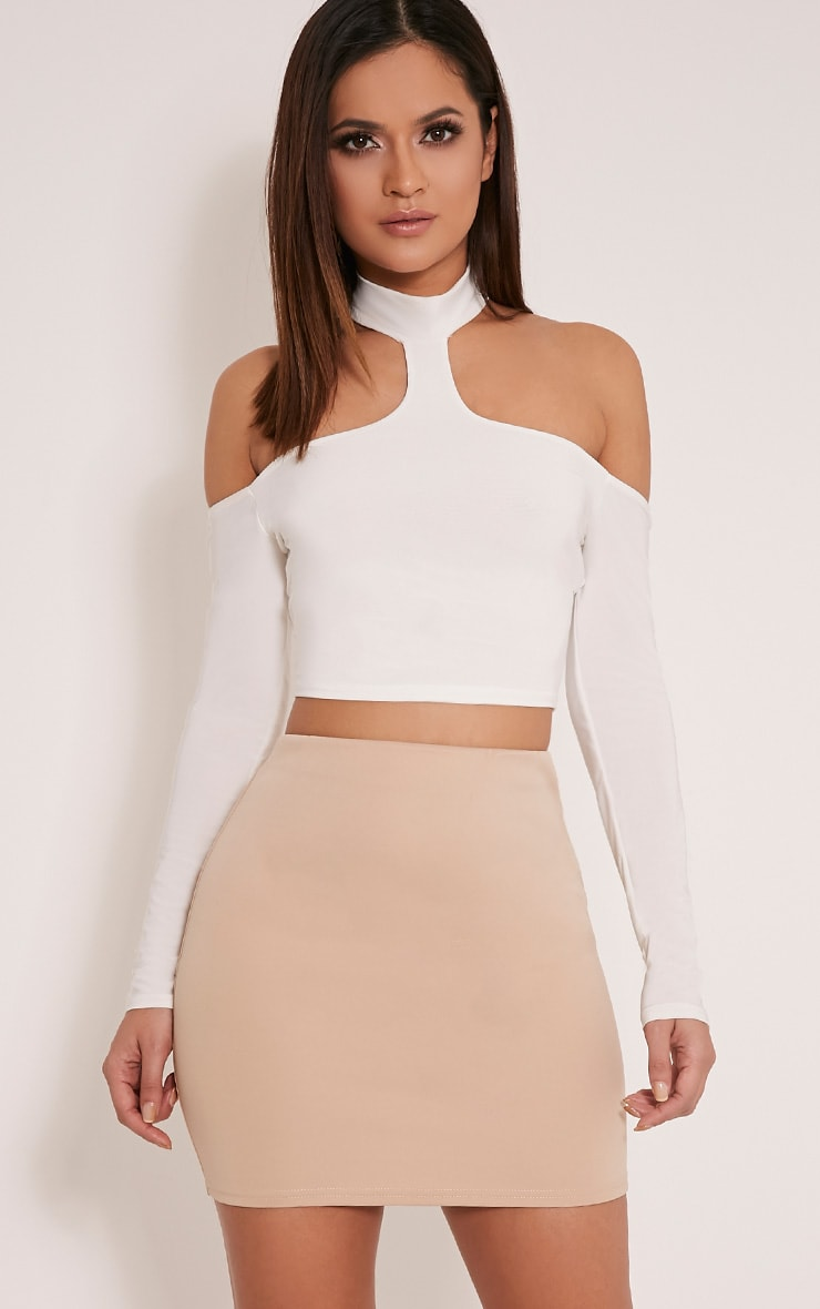 Milah Stone Scuba Mini Skirt 1