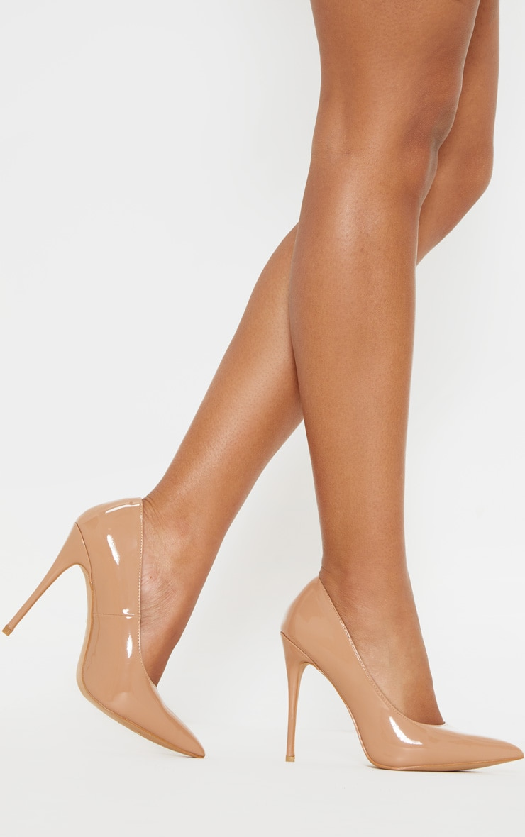 Mid Nude Court Shoes 1