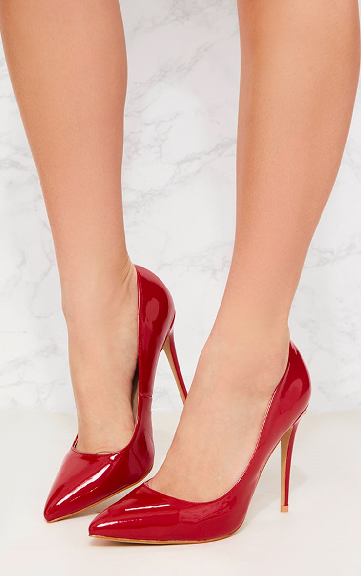 Red Patent Court Shoe 4