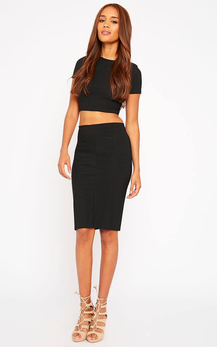 Klarisa Black Midi Skirt 1