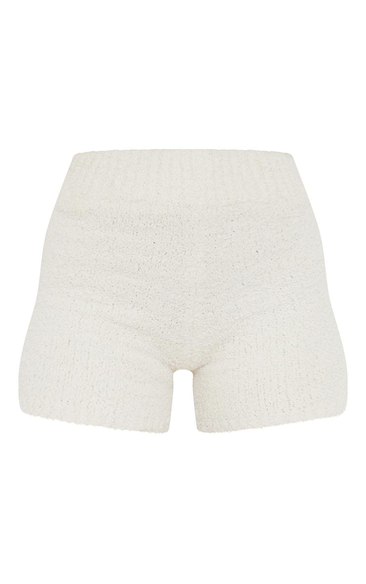 Short crème Premium  en maille tricot fluffy 6