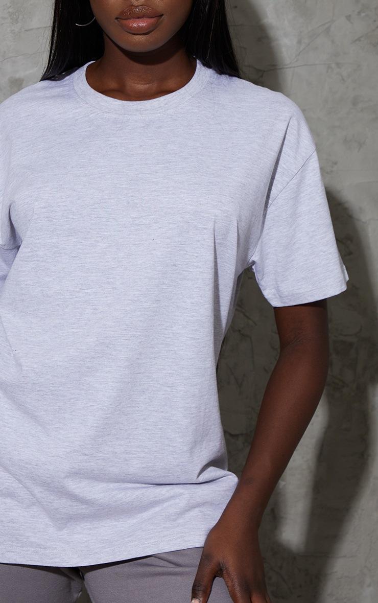Tall Grey Oversized Boyfriend T Shirt 4