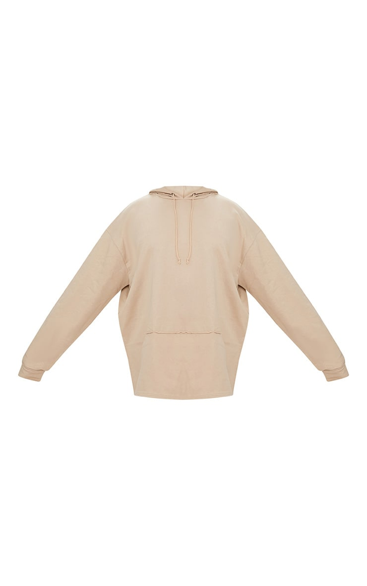 Plus Taupe Oversized Hoodie 3