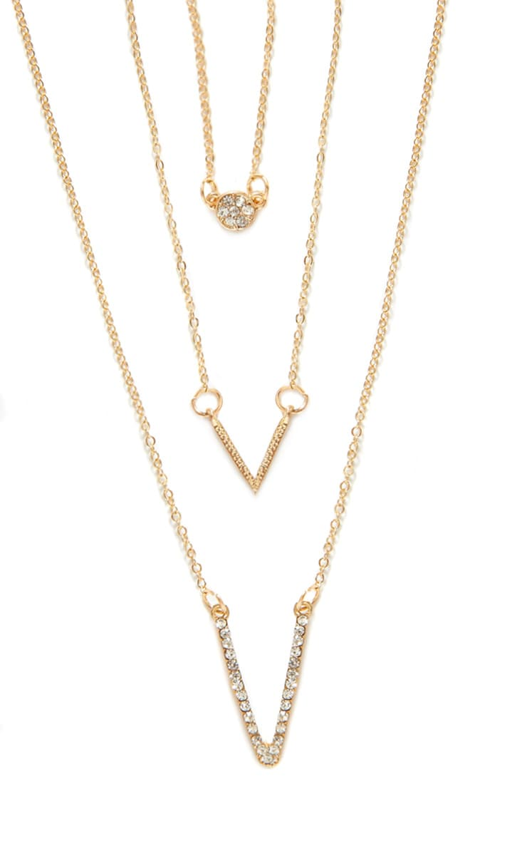 Shan Gold Chevron Layered Necklace 2
