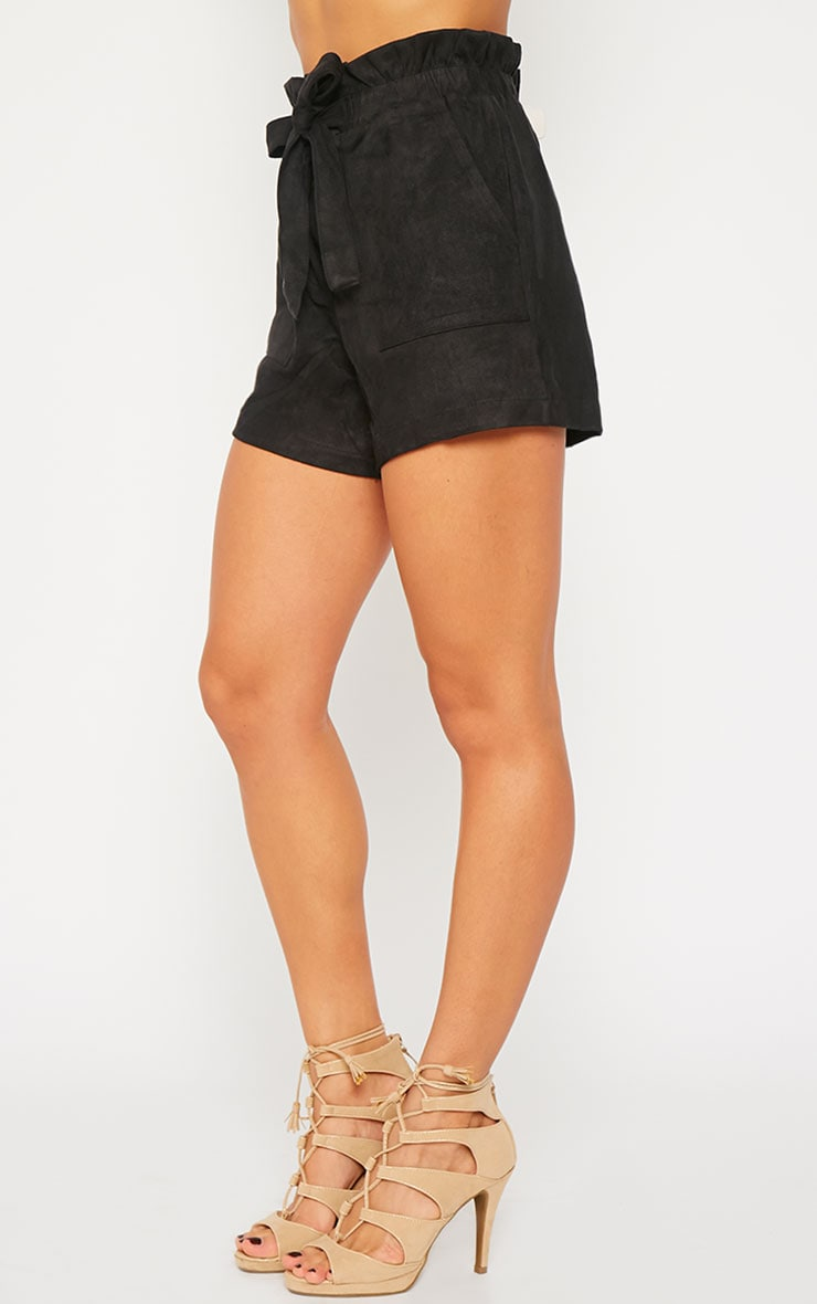 Trudy Black Suede Shorts 3