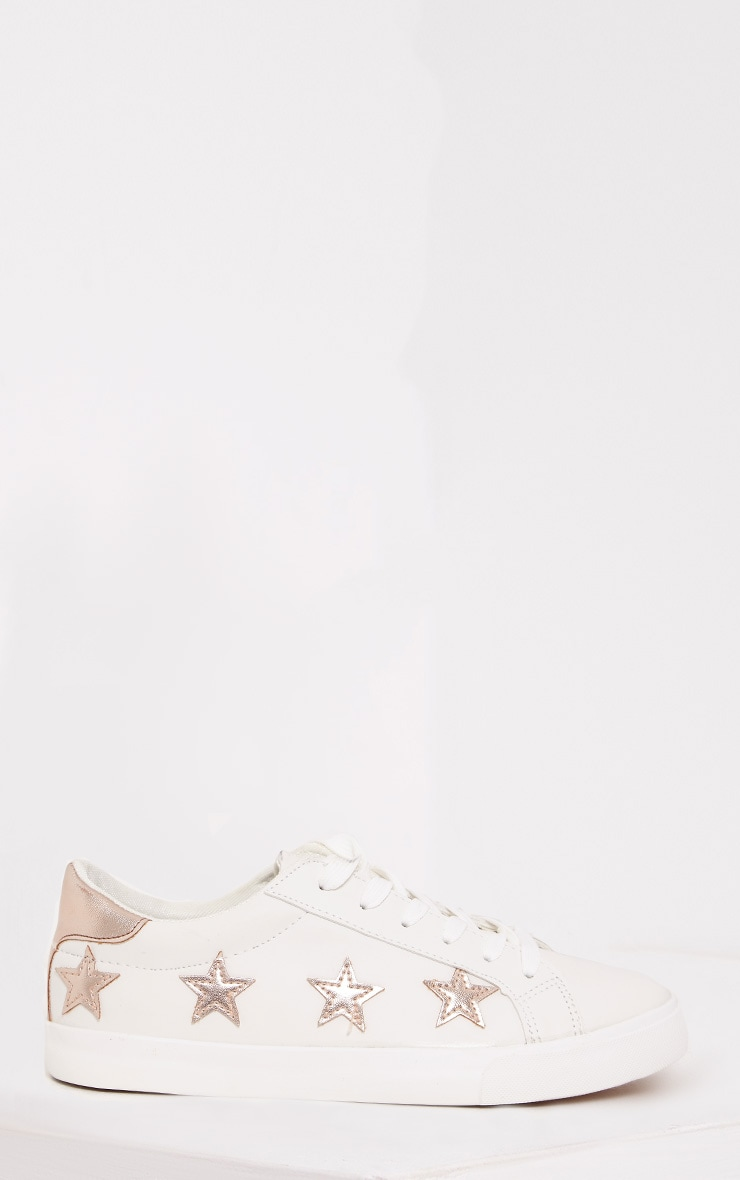 Ami Rose Gold Metallic Star Trainers 3