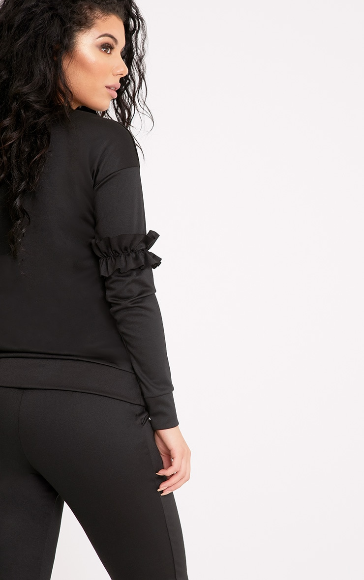 Anabell Black Frill Sweater 2
