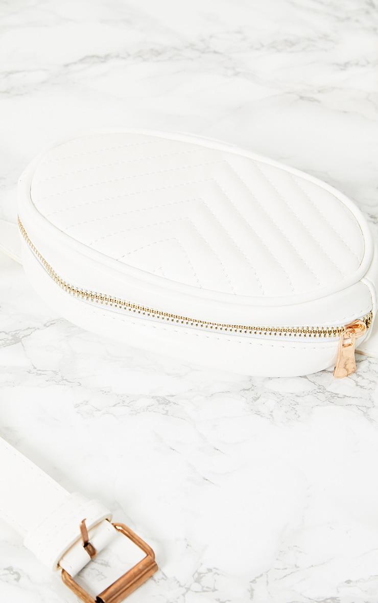 Plus White Faux Leather Bum Bag 5