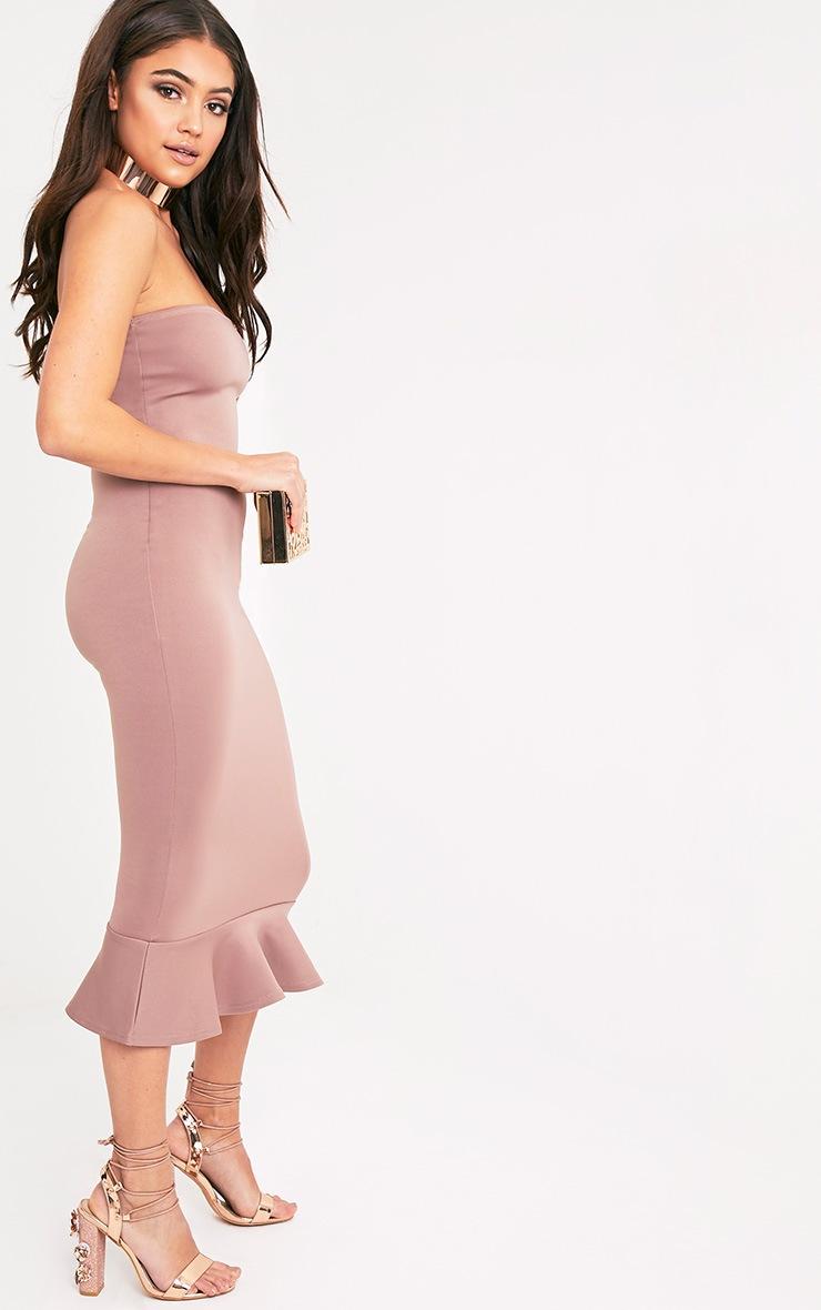 Isabella Truffle Bandeau Frill Hem Midaxi Dress 4