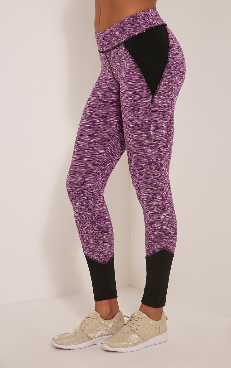 Maleah leggings sport chiné violet 4