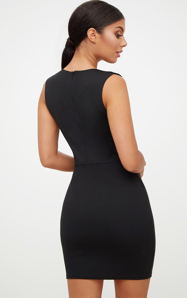 Black bodycon dress sleeveless hiking low giveaway