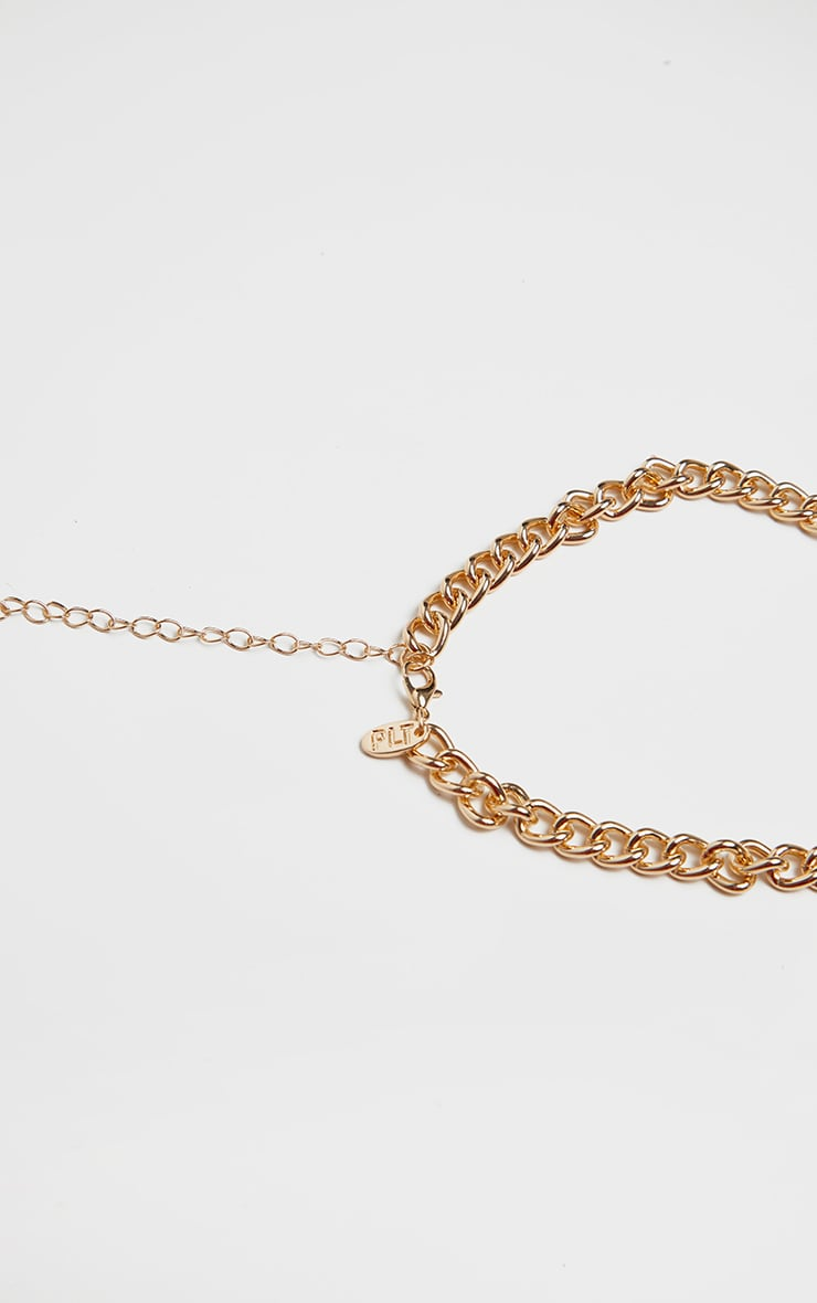 Gold Simple Link Chain Choker 4