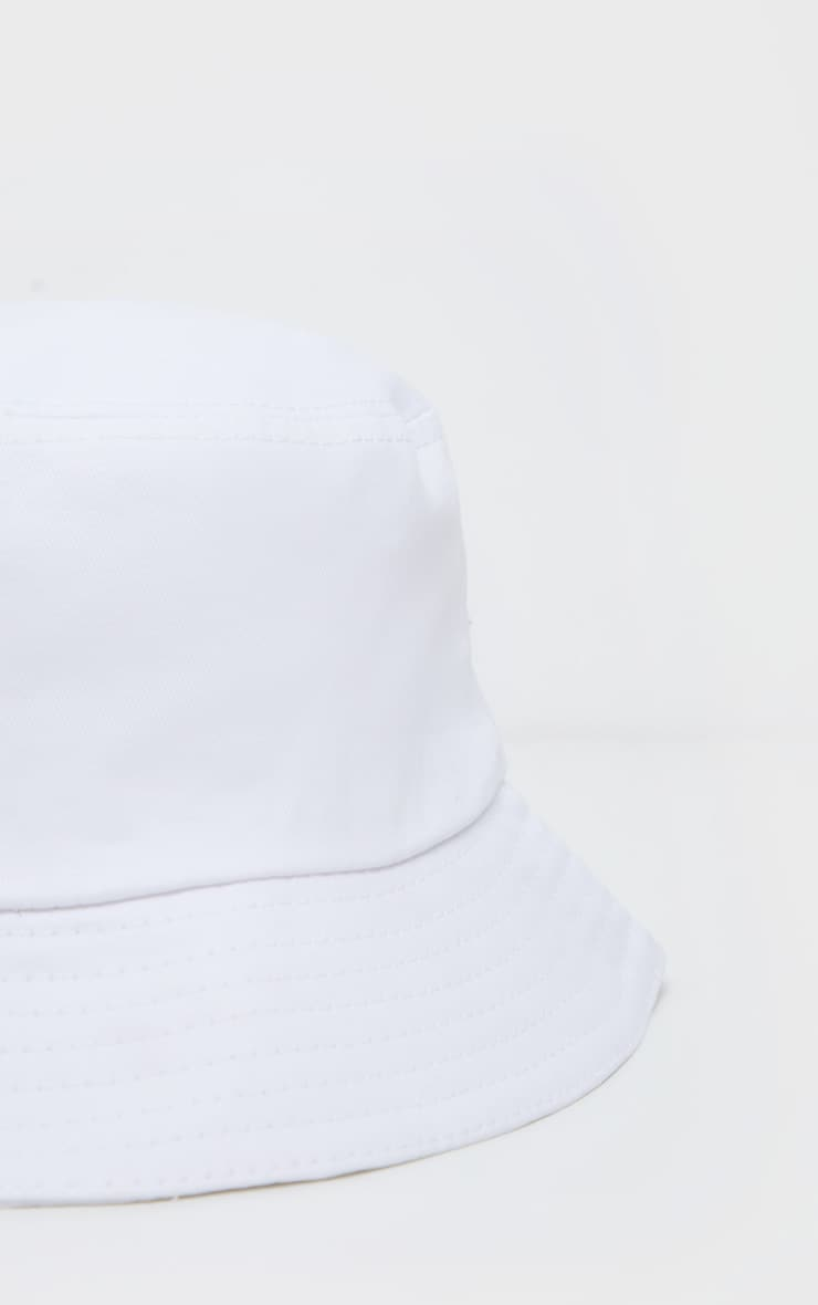 Cream Plain Bucket Hat  3