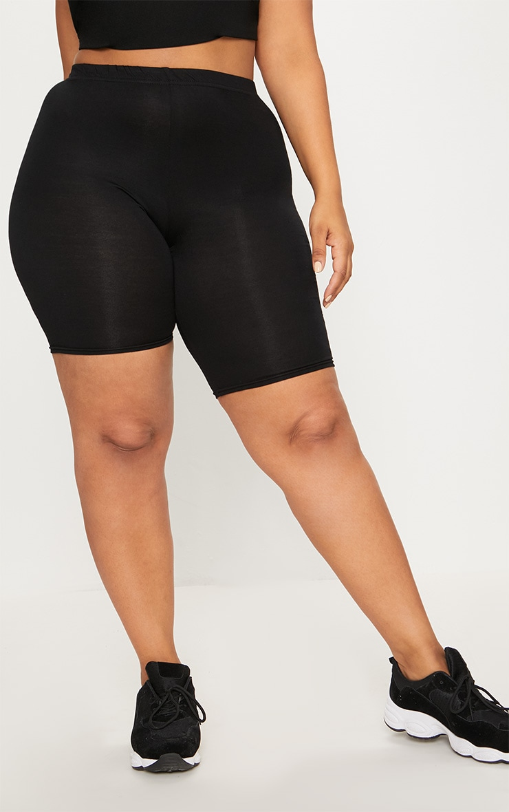 Plus Black Basic Bike Shorts 2