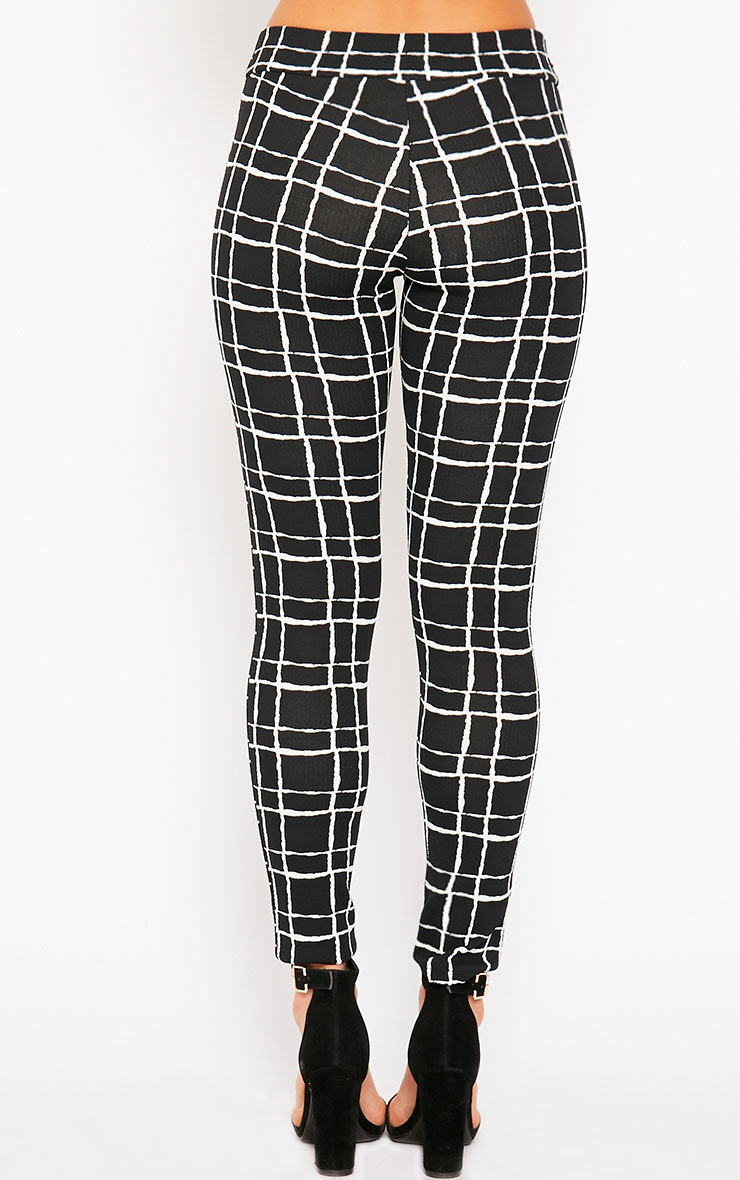 Lesia Black Grid Pants 4