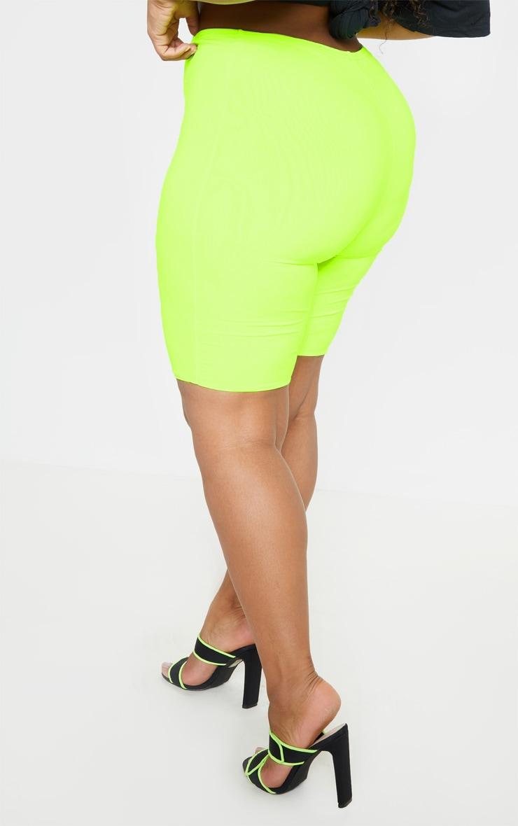 Plus Neon Lime Bike Shorts 5