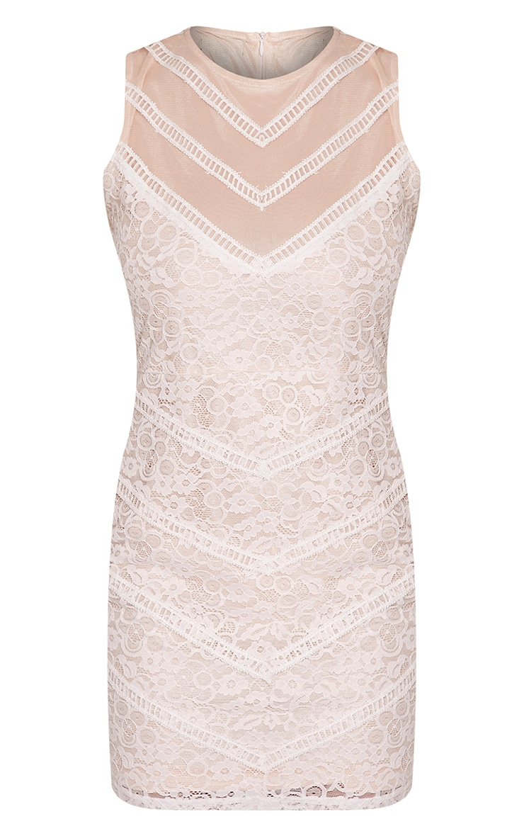 Becca White Lace Bodycon Dress 3
