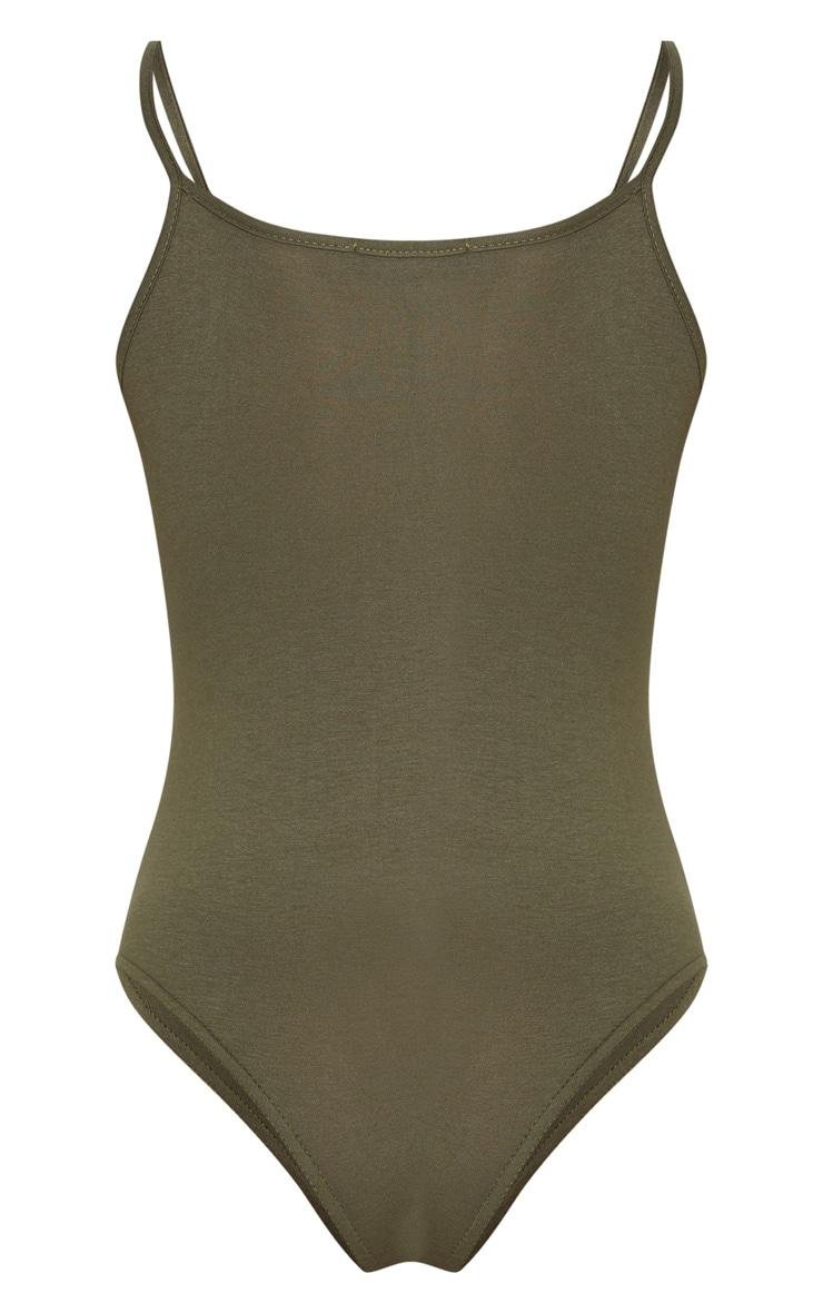 Basic Khaki Bodysuit 4