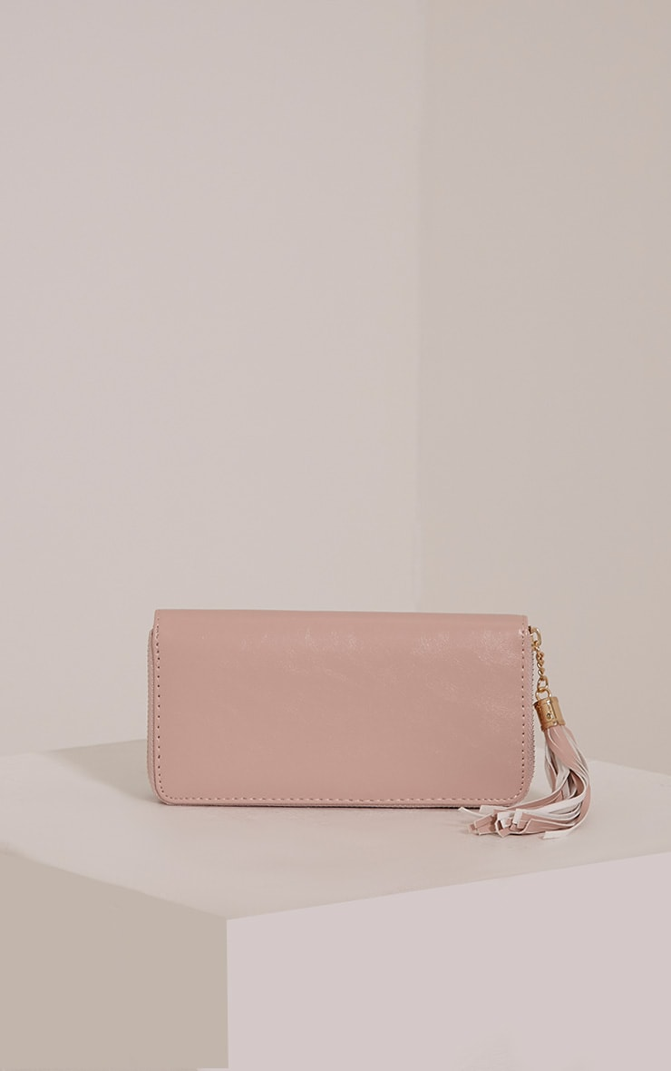 Bertha Nude Tassel Detail Purse 1