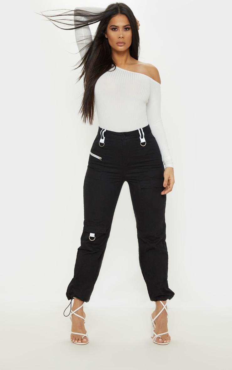 Cream Rib Bardot Long Sleeve Bodysuit 5