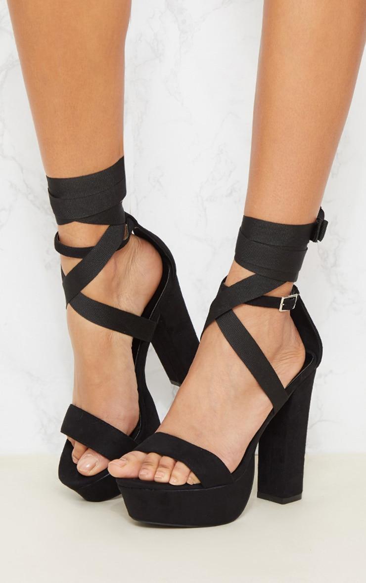 Sandales plateformes à lanières montantes 2