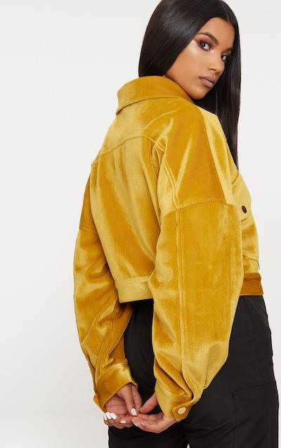 Mustard Cord Oversized Trucker Jacket