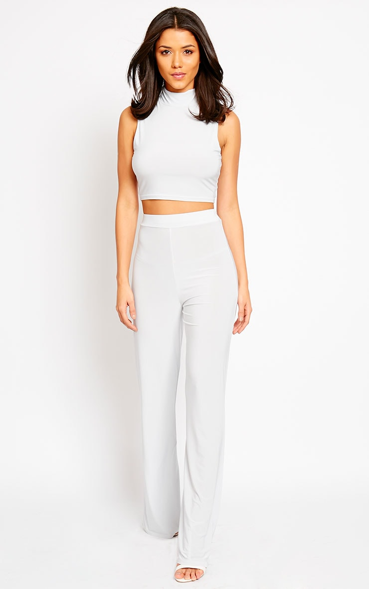 Remi Grey Soft Touch Wide Leg Trousers 5
