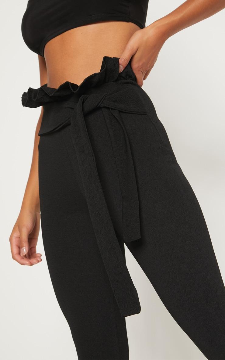 Petite Black Paperbag Skinny Trousers 5