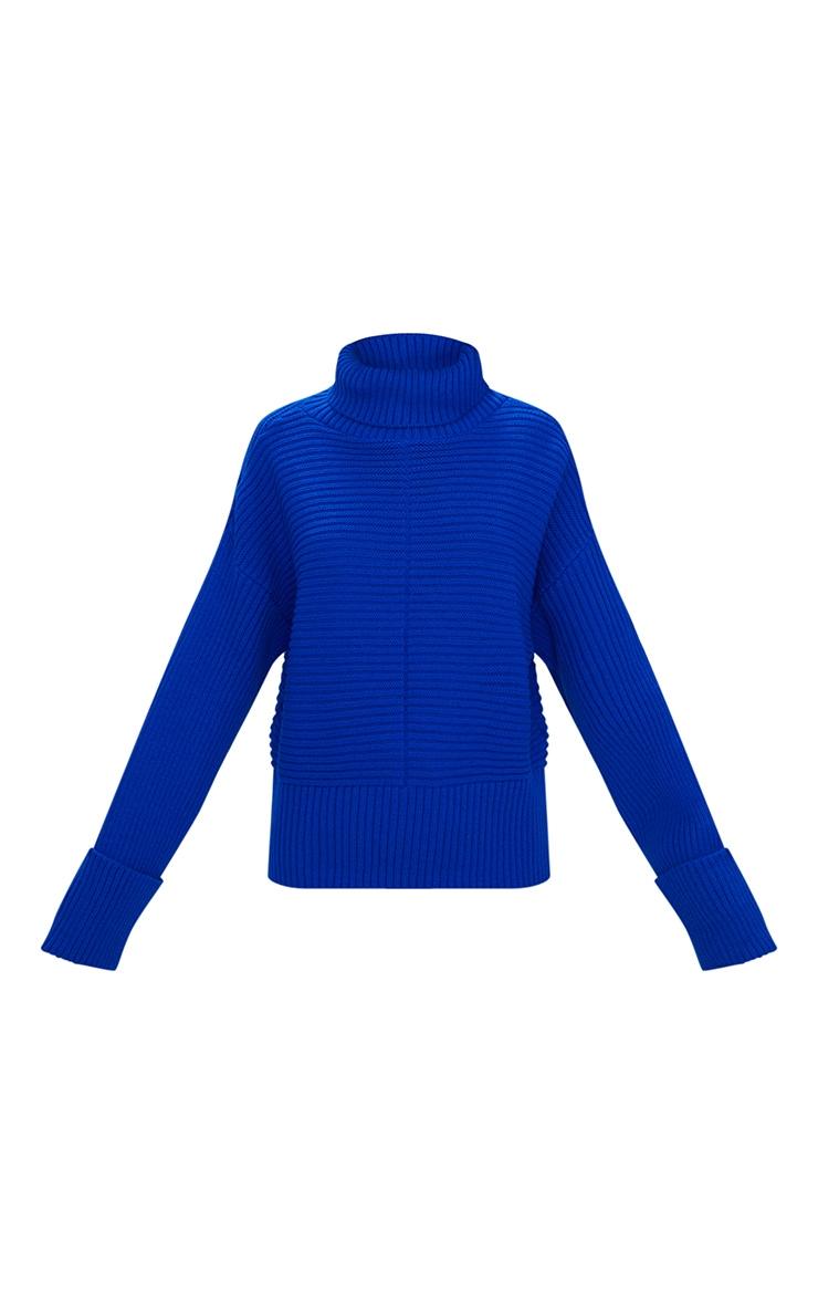 Cobalt Extreme Sleeve Roll Neck Jumper 3