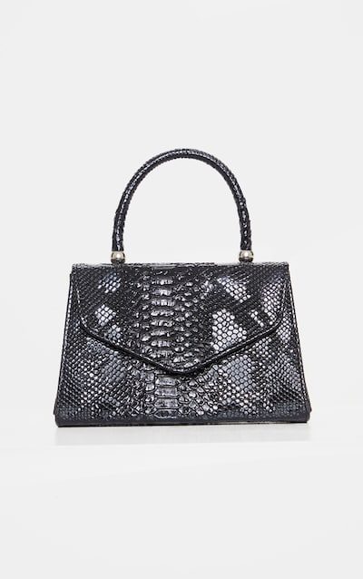 Black Croc Envelope Large Grab Bag