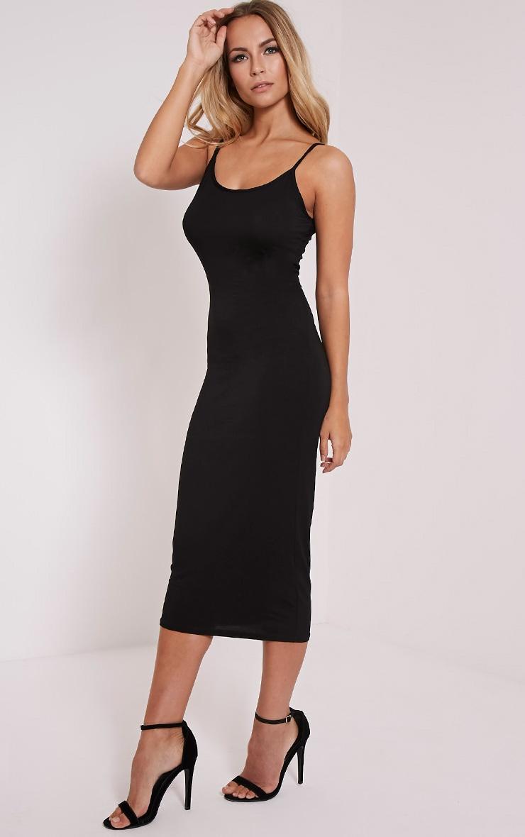 Basic Black Midi Vest Dress 3