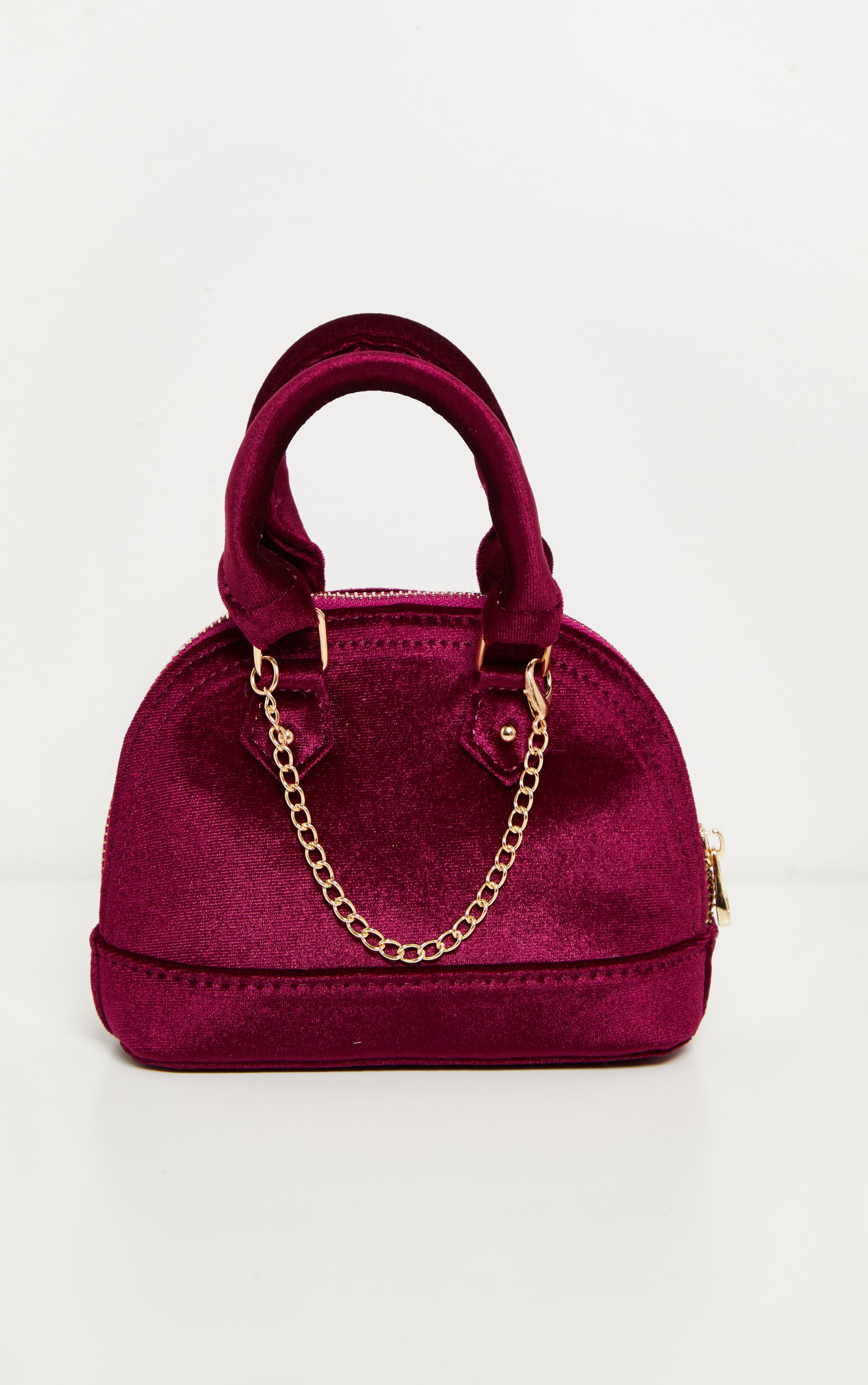 Rose Velvet Chain Trim Mini Bag 3