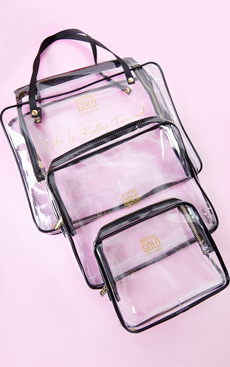 SOSU Dripping Gold Summer Travel Bags Set of 3 1