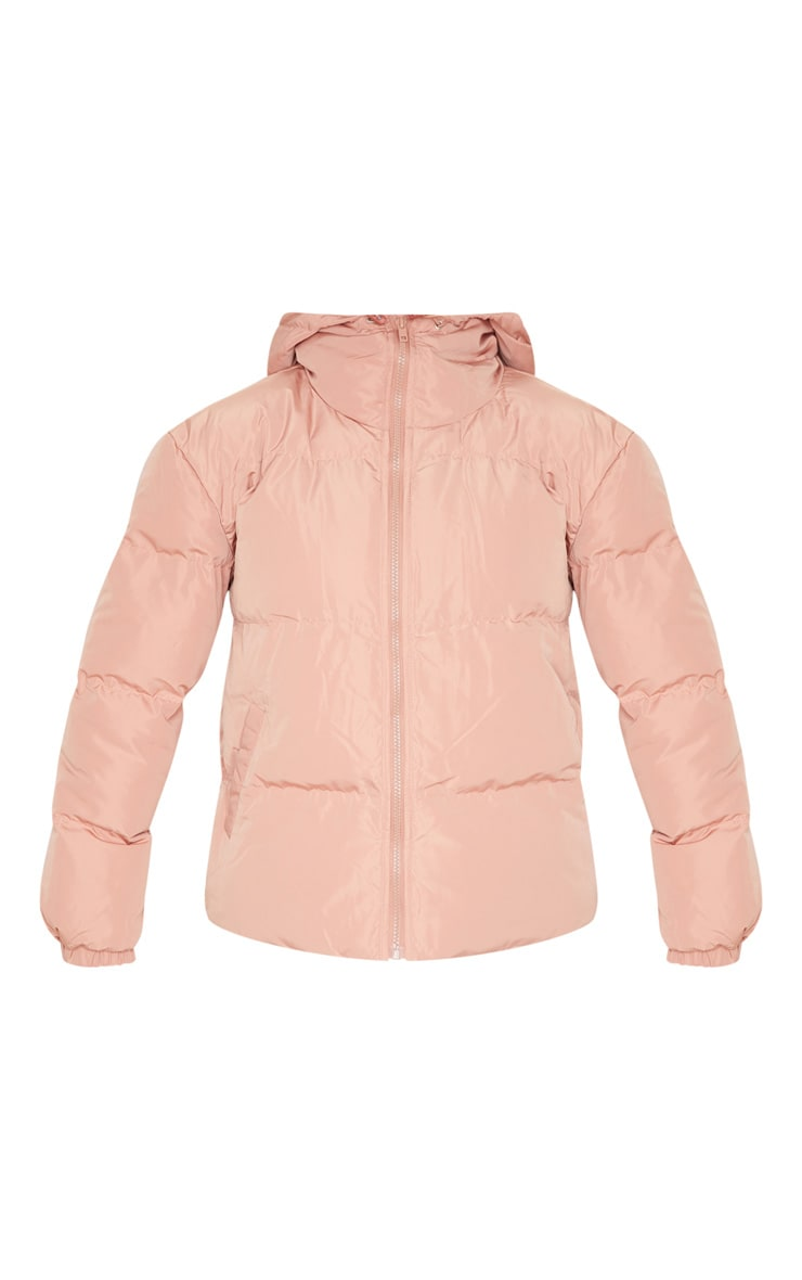 Rose Puffer Contrast Hooded Jacket 3