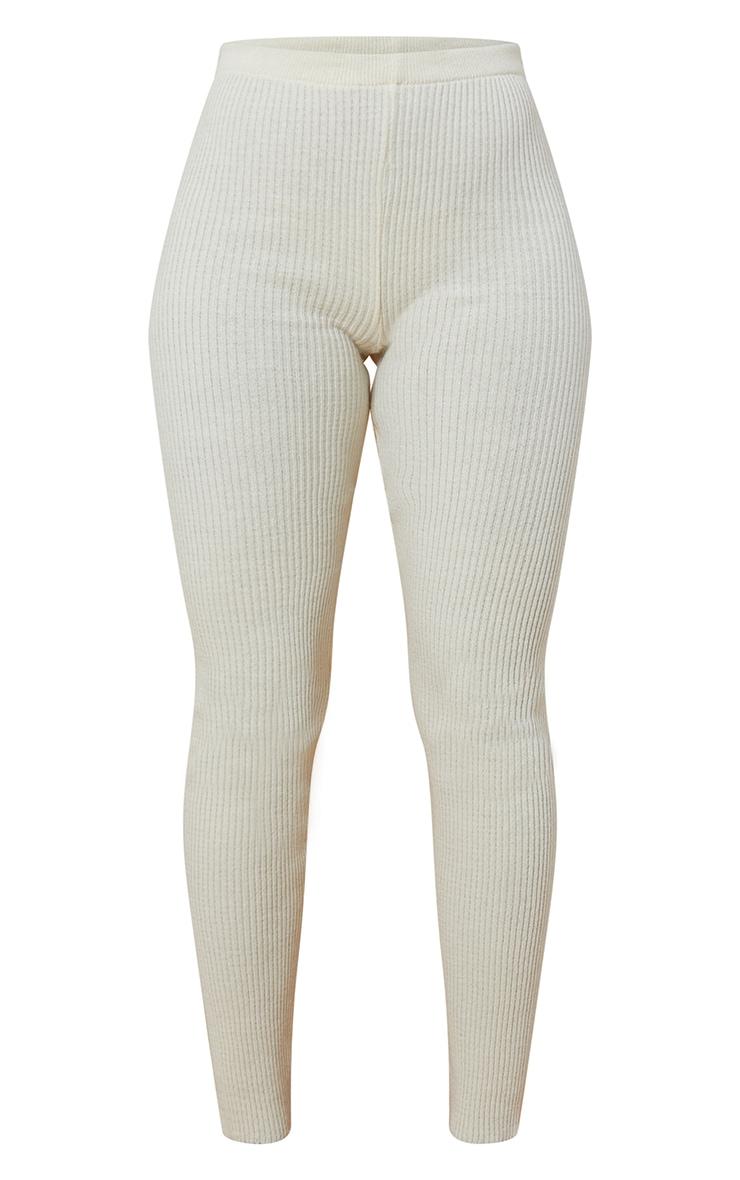 Cream Knitted Leggings 5
