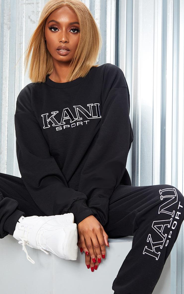 KARL KANI Black Embroidered Oversized Sweatshirt 4