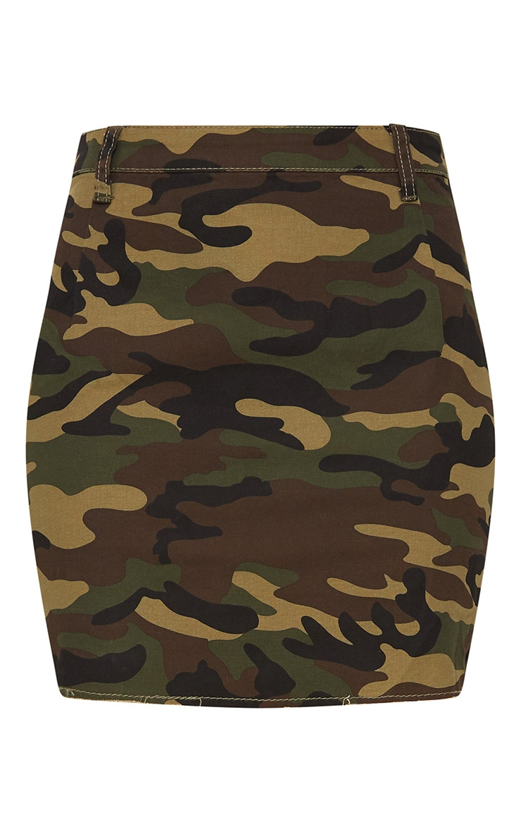 Camouflage Denim Mini Skirt 3