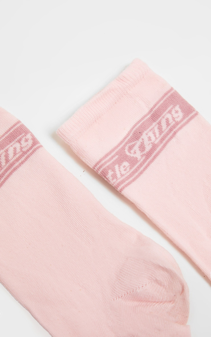 PRETTYLITTLETHING Pink Retro Socks 4