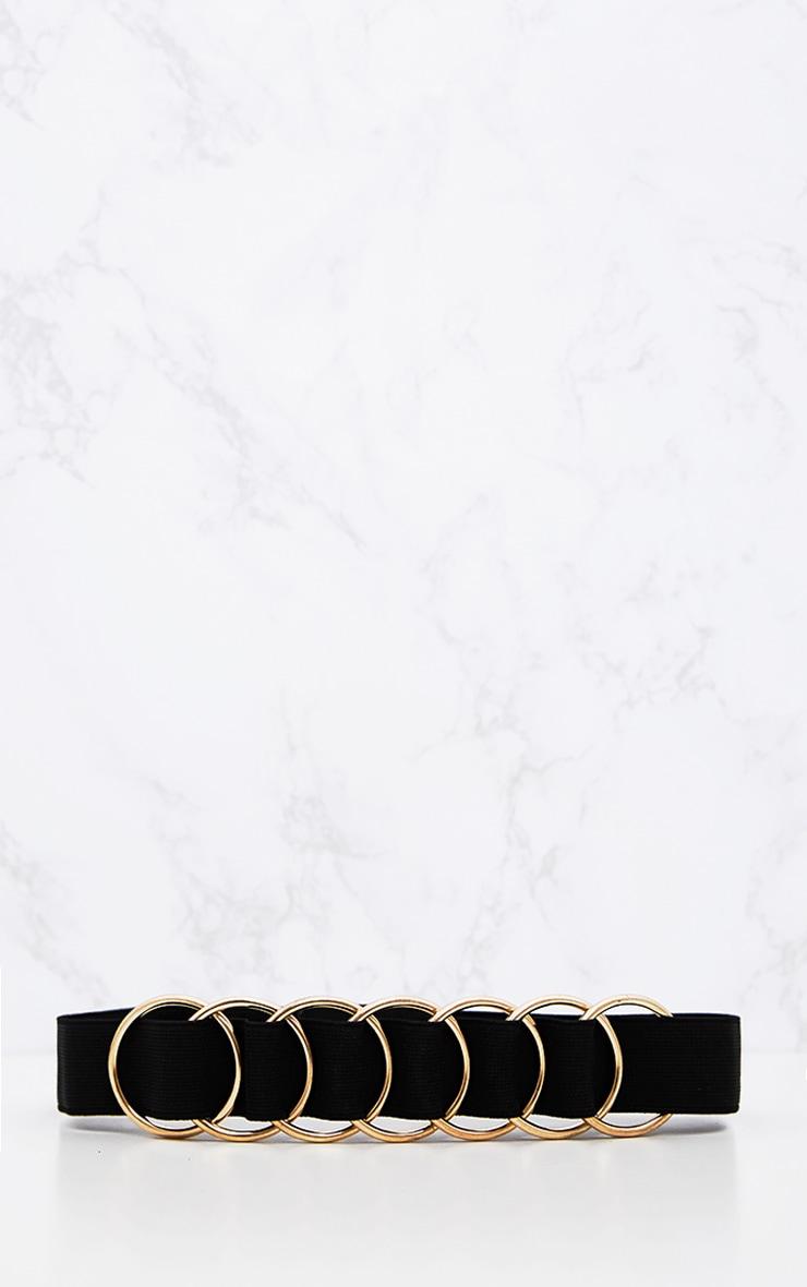 Black Elasticated Ring Belt 4