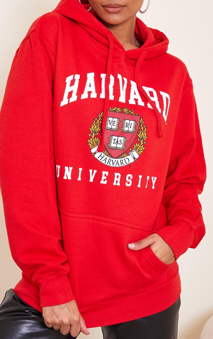 Red Harvard Printed Hoodie 4