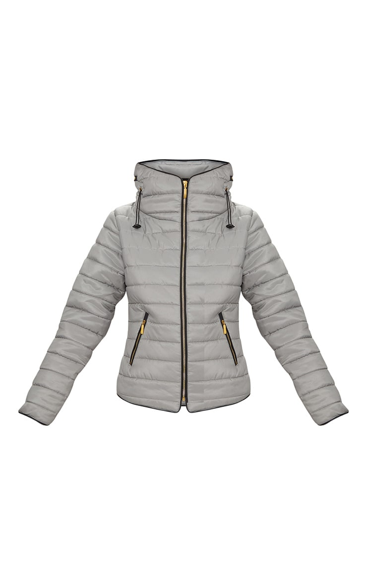 Mara Grey Puffer Jacket 3