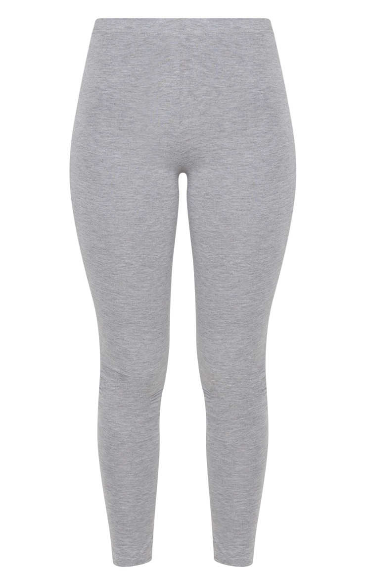 Basic Grey Jersey Leggings 3