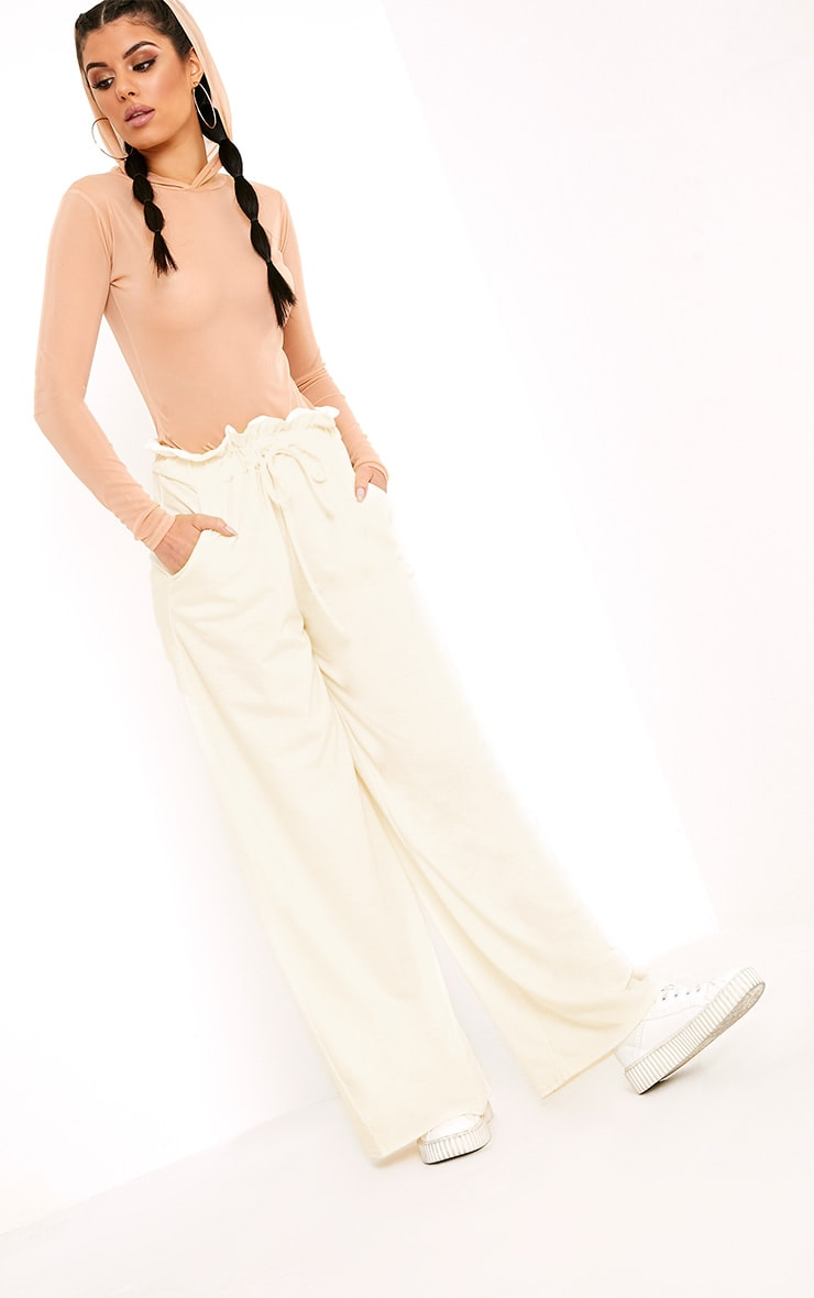 Jessey Cream Paperbag Wide Leg Trousers  5